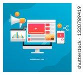 video on website  video content ... | Shutterstock .eps vector #1320789419