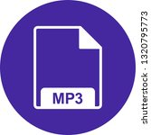 vector mp3 icon  | Shutterstock .eps vector #1320795773