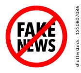 fake news icon   Shutterstock .eps vector #1320807086