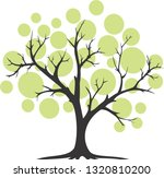abstract tree silhouette  ... | Shutterstock .eps vector #1320810200