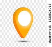 3d map pointer pin isolated on... | Shutterstock .eps vector #1320826013