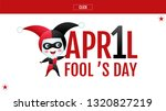april fool's day  typography ... | Shutterstock .eps vector #1320827219