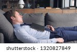 young caucasian businessman... | Shutterstock . vector #1320827849