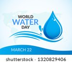 world water day illustration ... | Shutterstock .eps vector #1320829406