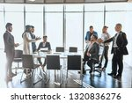 two companies trying to solve... | Shutterstock . vector #1320836276
