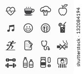 health and wellness icons with... | Shutterstock .eps vector #132084194