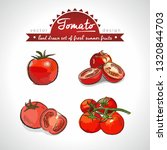 tomato collection of fresh... | Shutterstock .eps vector #1320844703