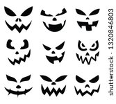 pumpkin smiley face on... | Shutterstock .eps vector #1320846803