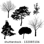 illustration with six tree... | Shutterstock .eps vector #132085106