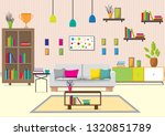 the living room with furniture. ... | Shutterstock .eps vector #1320851789
