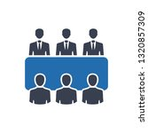business meeting icon | Shutterstock .eps vector #1320857309