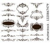 ornaments elements floral retro ... | Shutterstock .eps vector #1320867479