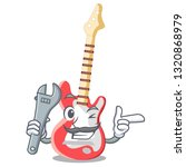 mechanic electric guitar   | Shutterstock .eps vector #1320868979