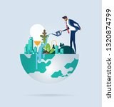 businessman protect and... | Shutterstock .eps vector #1320874799