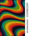 wavy psychedelic background ... | Shutterstock .eps vector #1320882269