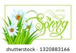 spring time. handwritten... | Shutterstock .eps vector #1320883166