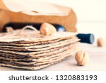 passover grocery shopping... | Shutterstock . vector #1320883193