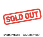 sold out stamp on white... | Shutterstock .eps vector #1320884900