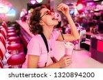 stylish beautiful sexy woman in ... | Shutterstock . vector #1320894200