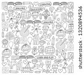 vector set of learning english... | Shutterstock .eps vector #1320894536