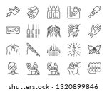 tattoo line icon set. included... | Shutterstock .eps vector #1320899846