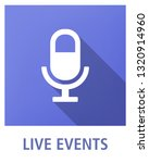 live events flat icon concept