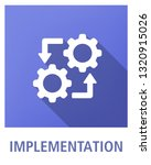 implementation flat icon concept | Shutterstock .eps vector #1320915026