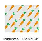 carrot pattern on light gray... | Shutterstock .eps vector #1320921689