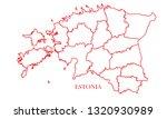 estonia red line map | Shutterstock .eps vector #1320930989