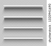 white shop product shelves.... | Shutterstock . vector #1320941690