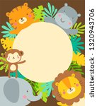 cute safari cartoon animals and ... | Shutterstock .eps vector #1320943706