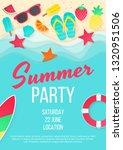 summer beach party vector... | Shutterstock .eps vector #1320951506