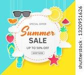 summer sale vector background.... | Shutterstock .eps vector #1320951626