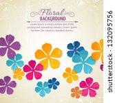Stock vector flower backdrop 132095756