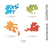 bubbles web design vector. | Shutterstock .eps vector #132096734