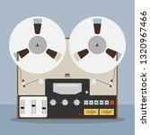 old bobbin tape recorder.... | Shutterstock .eps vector #1320967466