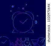 alarm clock line icon. reminder ...