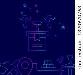 delivery drone line icon.... | Shutterstock . vector #1320970763