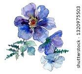 blue anemone floral botanical...   Shutterstock . vector #1320975503