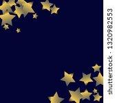 stars confetti diagonal border. ... | Shutterstock .eps vector #1320982553
