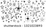 hand drawn doodle stars  vector ...   Shutterstock .eps vector #1321023893