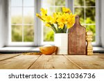 wooden table of free space for... | Shutterstock . vector #1321036736