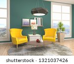 interior with chair. 3d... | Shutterstock . vector #1321037426
