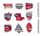 sale and price discount tags... | Shutterstock .eps vector #1321046150