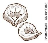 dumplings with meat filling... | Shutterstock .eps vector #1321046180