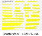 set vector highlighter. hand... | Shutterstock .eps vector #1321047356