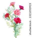bouquet of carnation schabaud ... | Shutterstock .eps vector #1321053923