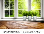 wooden table of free space for... | Shutterstock . vector #1321067759