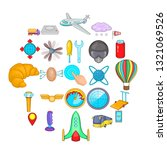 Balloonist icons set. Cartoon set of 25 balloonist icons for web isolated on white background