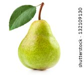 pears isolated on white... | Shutterstock . vector #132109130